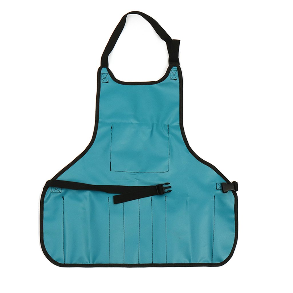 Grey Dolity Water Resistant Oxford Carpenters Joiner Workshop Work Apron With 13 Pockets as described