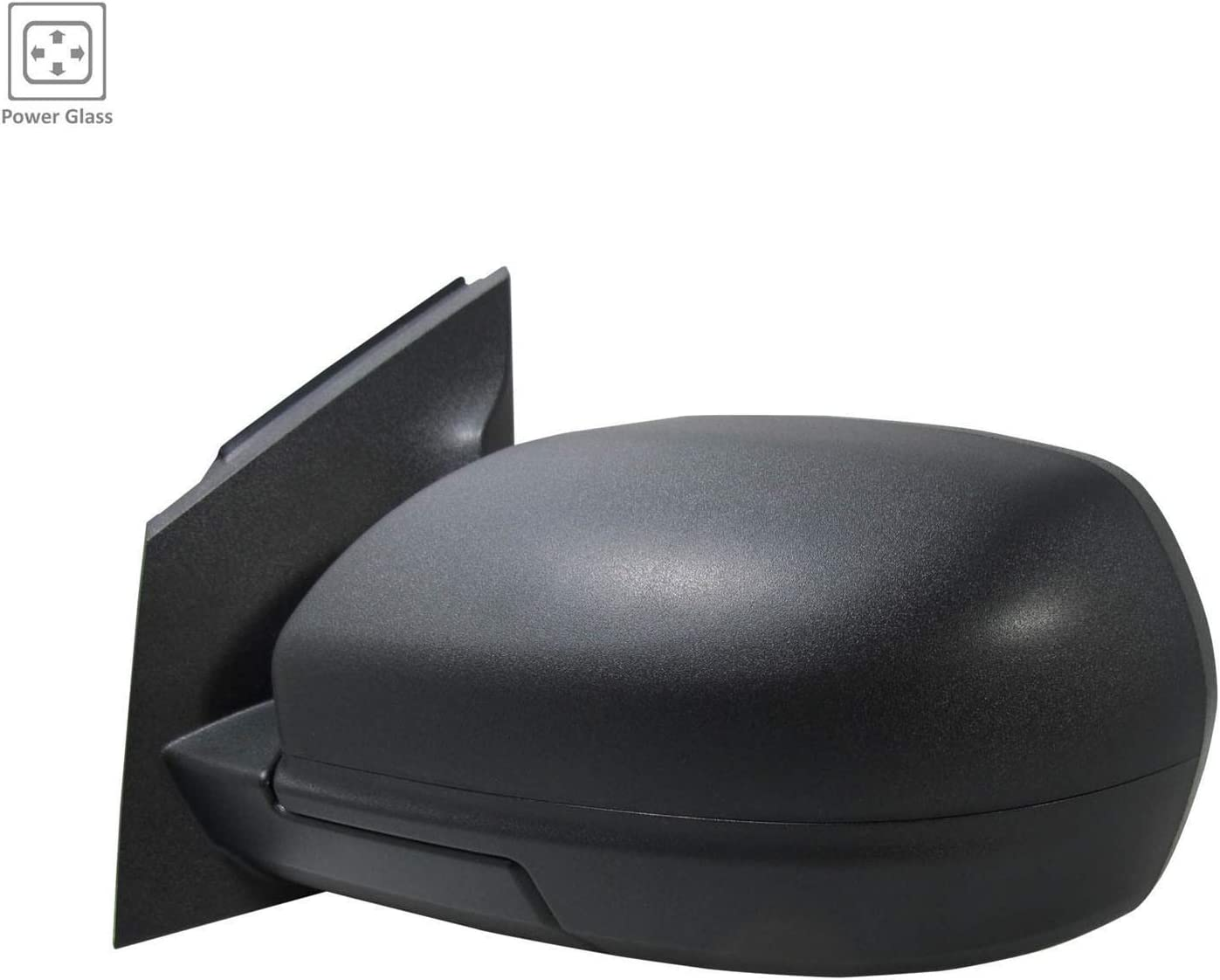 Fo Partslink FO1320580 2015-2018 Ford Focus Driver Side Power Door Mirror; With Blind Spot Glass; From 2//21//15 Production Date; Textured Cap; With Flat Glass