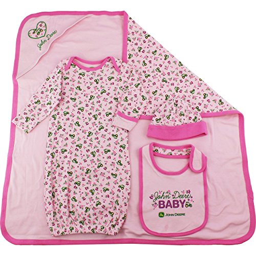 John Deere Pink 4 piece Layette Set (Infant/Baby)