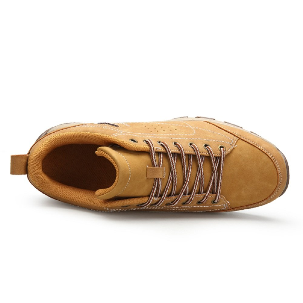 Amazon.com | Hafiot Hiking Shoes Mens Waterproof, Walking Lightweight Outdoor Trekking Summer Low Leather Black Brown Khaki 6.5-12 | Hiking Shoes