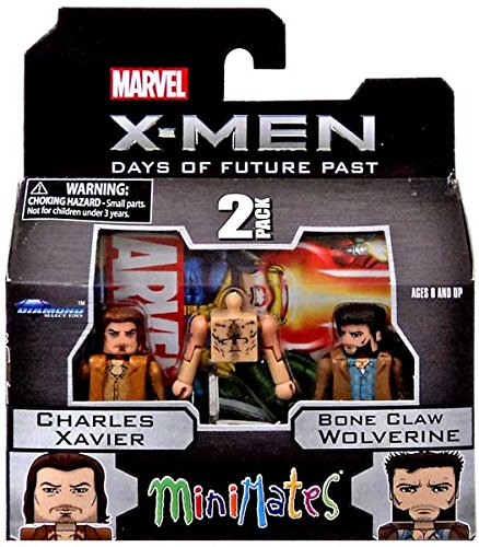 Bone Wolverine Claws (Marvel Minimates X-Men Days of Future Past Series 58 Mini Figure 2-Pack Charles Xavier & Bone Claw Wolverine by Diamond Select)