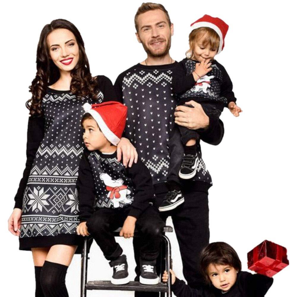 Family Matching Pajamas Sets Christmas Pajamas Outfit Heart Printing Holiday Clothes PJ Sets Boys Girls Kids Sleepwear