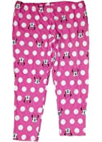 Disney Classic Minnie Mouse Big Face Womens Pant Leggings - 24 Inch Pink