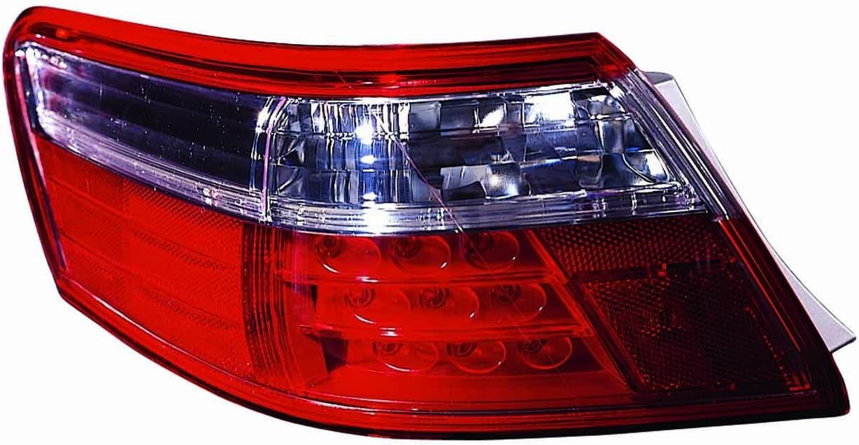 LED Tail Light For 2007-2009 Toyota Camry Hybrid RH Outer Clear /& Red Lens