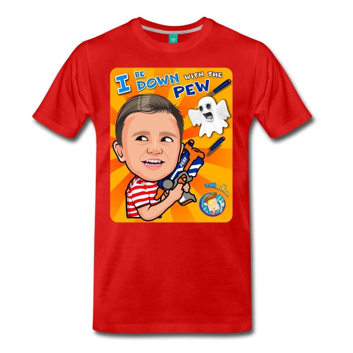 67b568cb1 Anzhouqu Funnel Vision Down with The Pew Men's Premium T-Shirt Plus Size  Black   Amazon.com