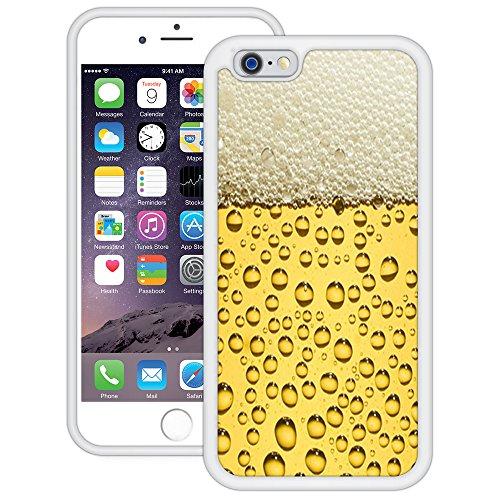 Bier Blasen | Handgefertigt | iPhone 6 6s (4,7') | Weiß TPU Hülle