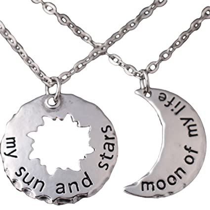My sun and stars moon of my life khal and khaleesi 2 piece necklace my sun and stars moon of my life khal and khaleesi 2 piece necklace costume aloadofball Image collections