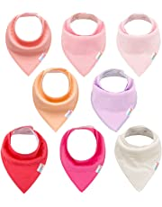 ALVABABY Baby Drool Bandana Bibs for Boys and Girls Super Absorbent Baby Gift Settings