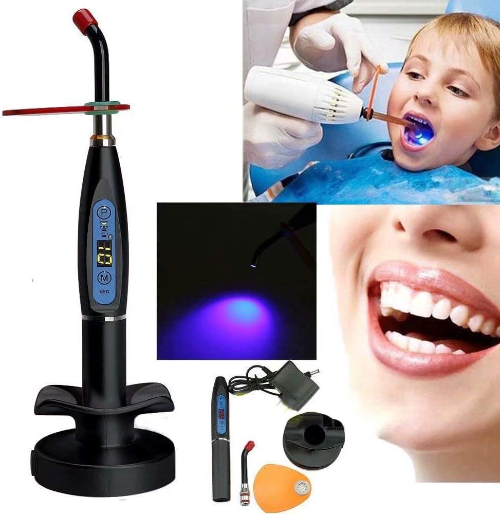 Global-Dental Wireless Cordless Light 5W lED Lamp 1500mW//cm/² with Tip Black