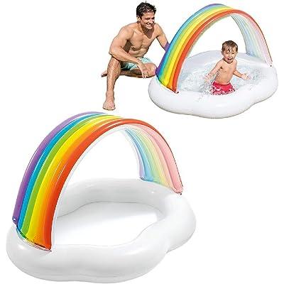 Intex 57141NP - Piscina bebé Toldo Arcoiris