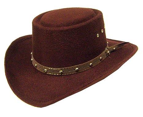 Amazon.com  Modestone Kids Gambler Faux Felt Cowboy Hat   Some Sizes ... 6b914b8645c