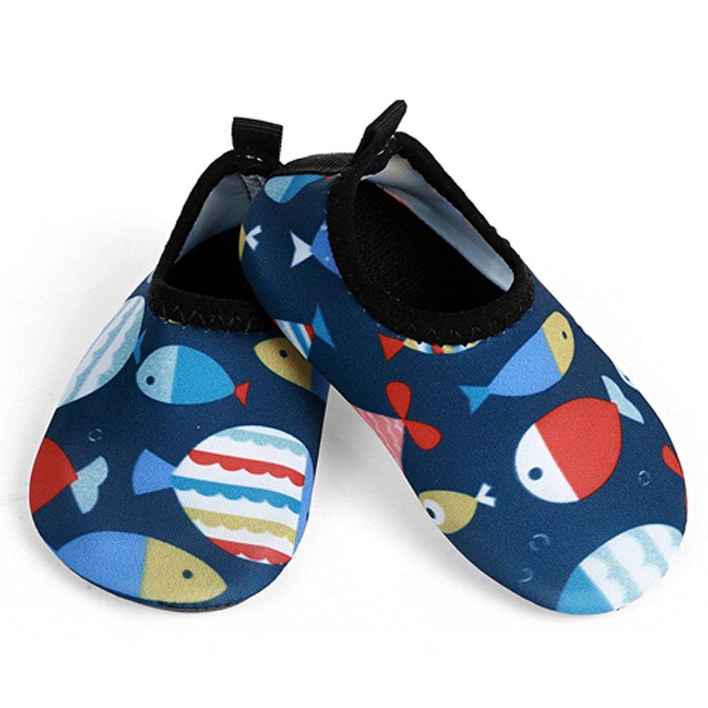 L-RUN Aqua Shoes for Toddlers Waterproof Aqua Water Shoes Socks Fish 18-24 Month=EU21-22