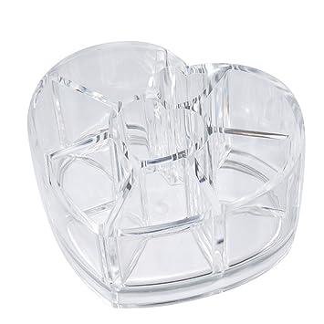 sepbear transparente caja de belleza maquillaje organizador con forma de corazón cajas de cosméticos almacenamiento pantalla soporte: Amazon.es: Bricolaje y ...