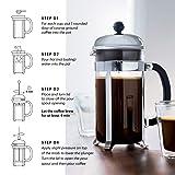 BODUM 1928-57, Matte Chrome Chambord 8-Cup Coffee