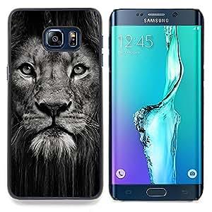 "For Samsung Galaxy S6 Edge Plus / S6 Edge+ G928 Case , León Potente Naturaleza Animal del gato grande"" - Diseño Patrón Teléfono Caso Cubierta Case Bumper Duro Protección Case Cover Funda"