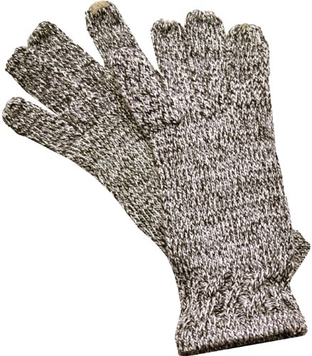 ISO Isotoner Women's SmarTouch Knit Gloves Oxford Black One Size