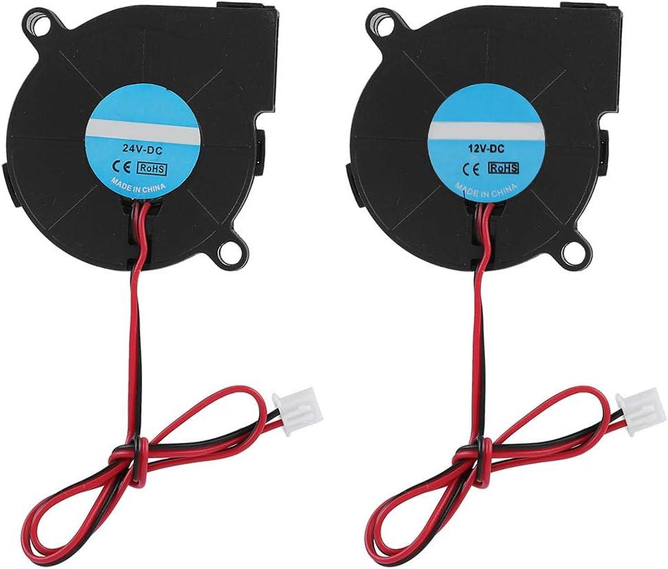ASHATA Ventilador de Refrigeración para Impresora 3D,3D Printer 5015 Ventilador de Enfriamiento,Disipador de Calor de Impresora 3D Radiador Accesorios(24v)