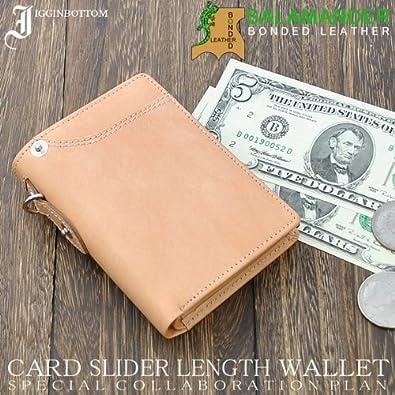 5f3f9a86f73d Igginbottom デザイン × ドイツの伝統 サラマンダー社 ボンテッドレザー 革 コラボ 折財布 IG