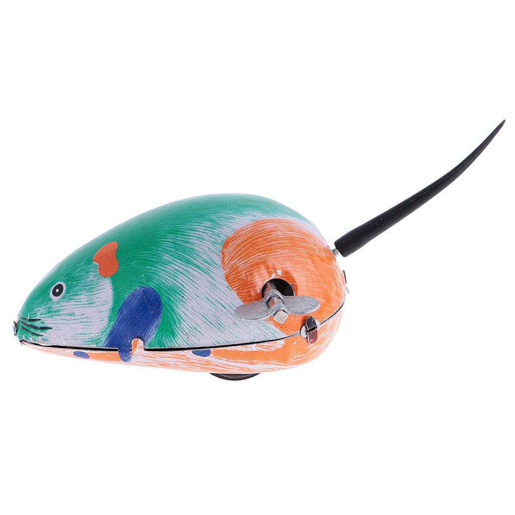 Sharplace 1 St/ück Wind up Maus Uhrwerk Tier Blechspielzeug f/ür Baby Kleinkind Kinder
