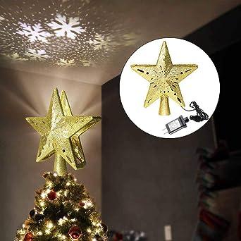 LED Lámpara de Proyección Interior Sombrero de árbol de Navidad ...