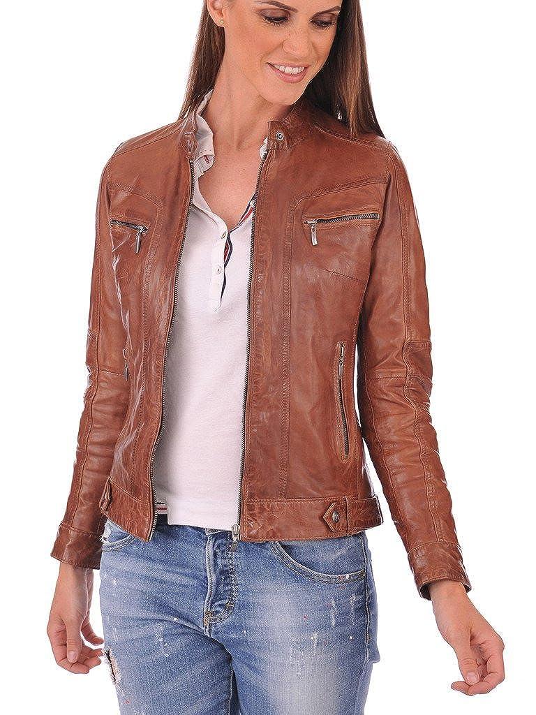 Western Leather Women's Lambskin Leather Bomber Biker Jacket 481