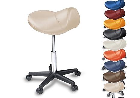 Sgabello saddle imbottito molti colori ruotare di gradi