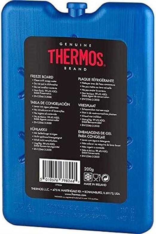 Thermos - Pack de 2 hieleras para congelar bloques de hielo, de tamaño pequeño para viajes, 200 g: Amazon.es: Hogar