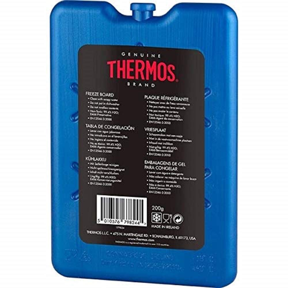 2 x Thermos Freeze Board Ice Pack Small Ice Block Flat Travel Ice Box Pack 200g