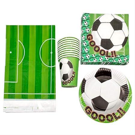Vaso desechable Fiesta Fútbol Napkins Feliz Cumpleaños ...
