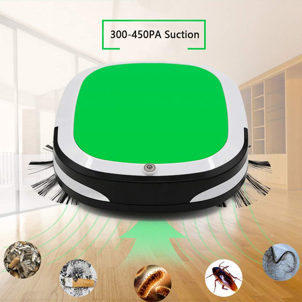Amazon.com - Tubwair Smart Sweeping Robot, 3 in 1 Automatic Rechargeable Mini Sweeper Smart Robot Vacuum Floor Cleaner Cordless Dry Wet Sweeping Mop Home ...