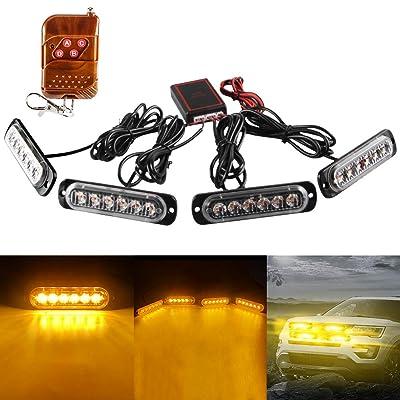 Lighting & Lamps LED Lights informafutbol.com 4in 1 White Car ...