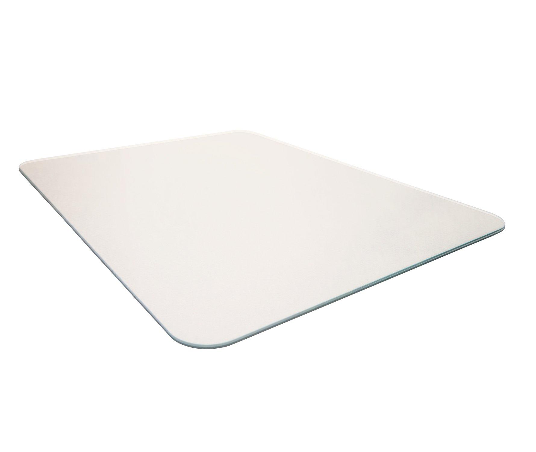 Cleartex Glacier Mat Glass Chair Mat for Hard Floors/All Pile Carpets, 40''x53'', Crystal Clear (FC124053EG)