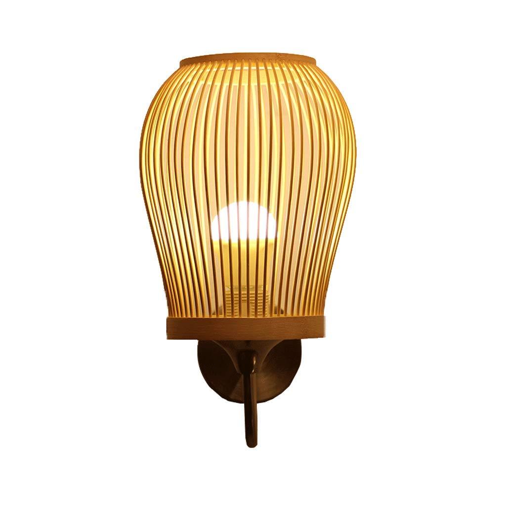Jingguideng Nachtwandlampe Gangwandlampe Club Kreative Bambuslampe Einfache Garteninnenwandlampe