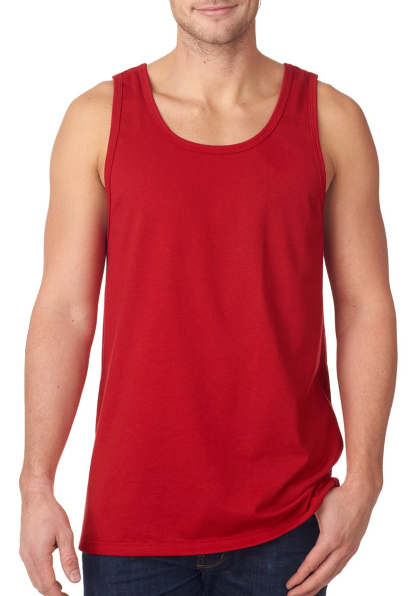 Fruit Of The Loom Men's Two Needle Hemmed Bottom Tank, True Red, XXX-Large by Fruit of the Loom