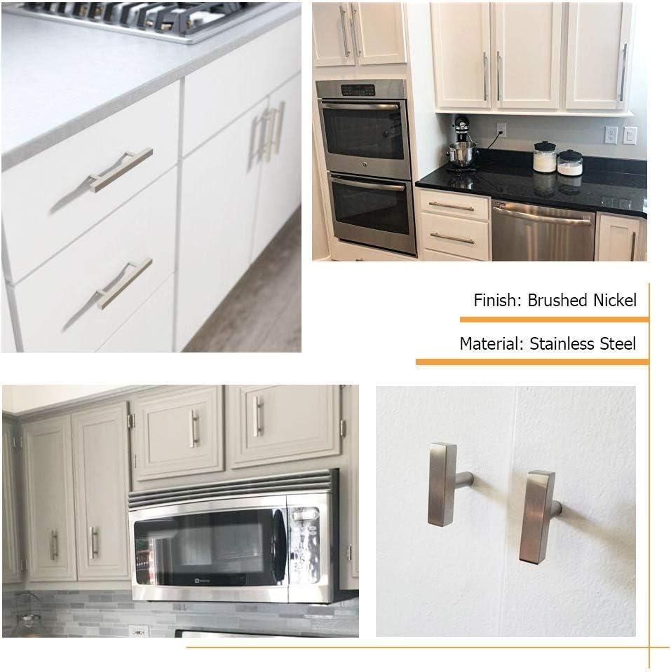 Bathroom homdiy 3 in Cabinet Handles Brushed Nickel 25 Pack Wardrobe HDJ22SN T Knob Cabinet Pulls 3in Cabinet Hardware Pulls Metal Drawer Pulls for Kitchen Closet