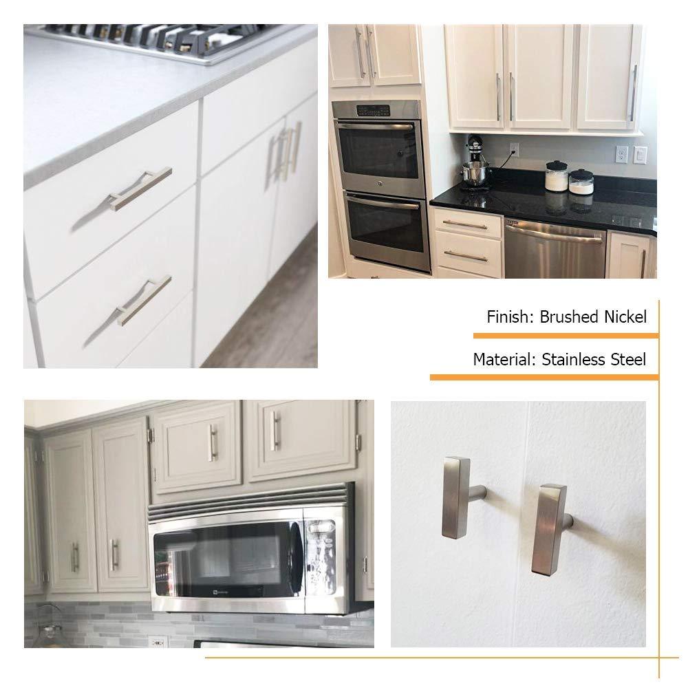 HDJ22SN 7-1//2in 192mm homdiy Kitchen Cabinet Handles Brushed Nickel Drawer Pulls 10 Pack Hole Centers Cabinet Pulls Modern Cabinet Hardware Pulls Drawer Handles for Bathroom