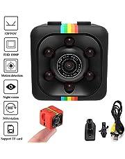 Xixini Mini HD 1080 Camara Espia - Cámara De Vigilancia Compacta Equipada con Grabador Multifuncional De Vídeo Digital (DVR) En Micro SD - Cámara De Deporte o Webcam. Mini Spy CAM