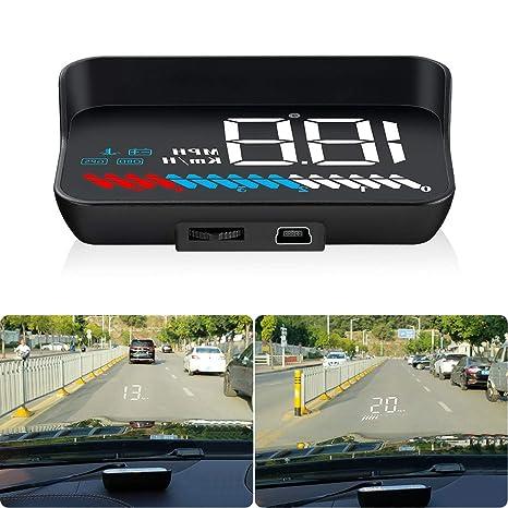 Amazon.com: Carrfan Car Head Up Display HUD OBDⅡ GPS Dual ...