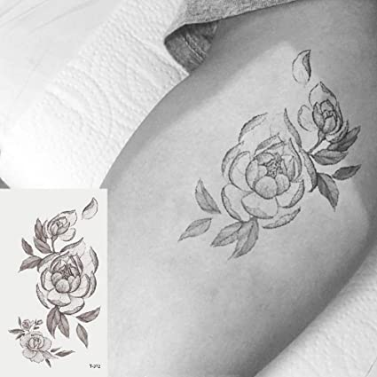 Oottati 2 Hojas Pequeño Lindo Tatuaje Temporal Tattoo Flores ...