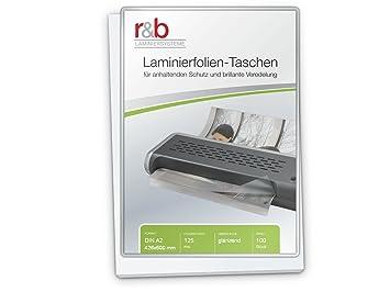Amazon.com: r&b FT-A2-125 - Bolsas para plastificar (A2 ...