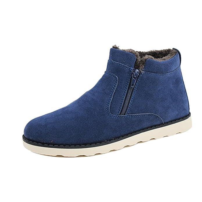 Gaorui Vater Herren Winter Schneeboots Stiefelette Warm gefütterte Schuhe  Reißverschluss Blau schwarz und Gelb: Amazon.de: Schuhe & Handtaschen