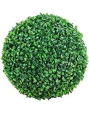 Fliyeong Planta Artificial Bola Decorativa Simulación Hierba Bola Verde Interior Centro de Mesa al Aire Libre para la Boda Decoración de Navidad en casa