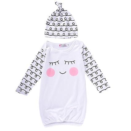 Del bebé saco de dormir con bonito estampado cara sonriente, 95% algodón Sleepsacks para