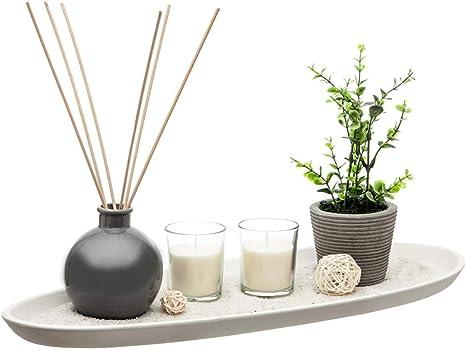 Bandeja decoratif jardín Zen 14 Pieces difusor Perfume planta arena vela: Amazon.es: Hogar