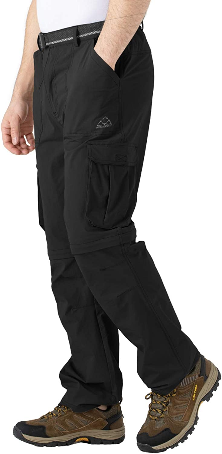 TBMPOY Mens Hiking Pants Convertible Pants Lightweight Quick Dry for Military Outdoors