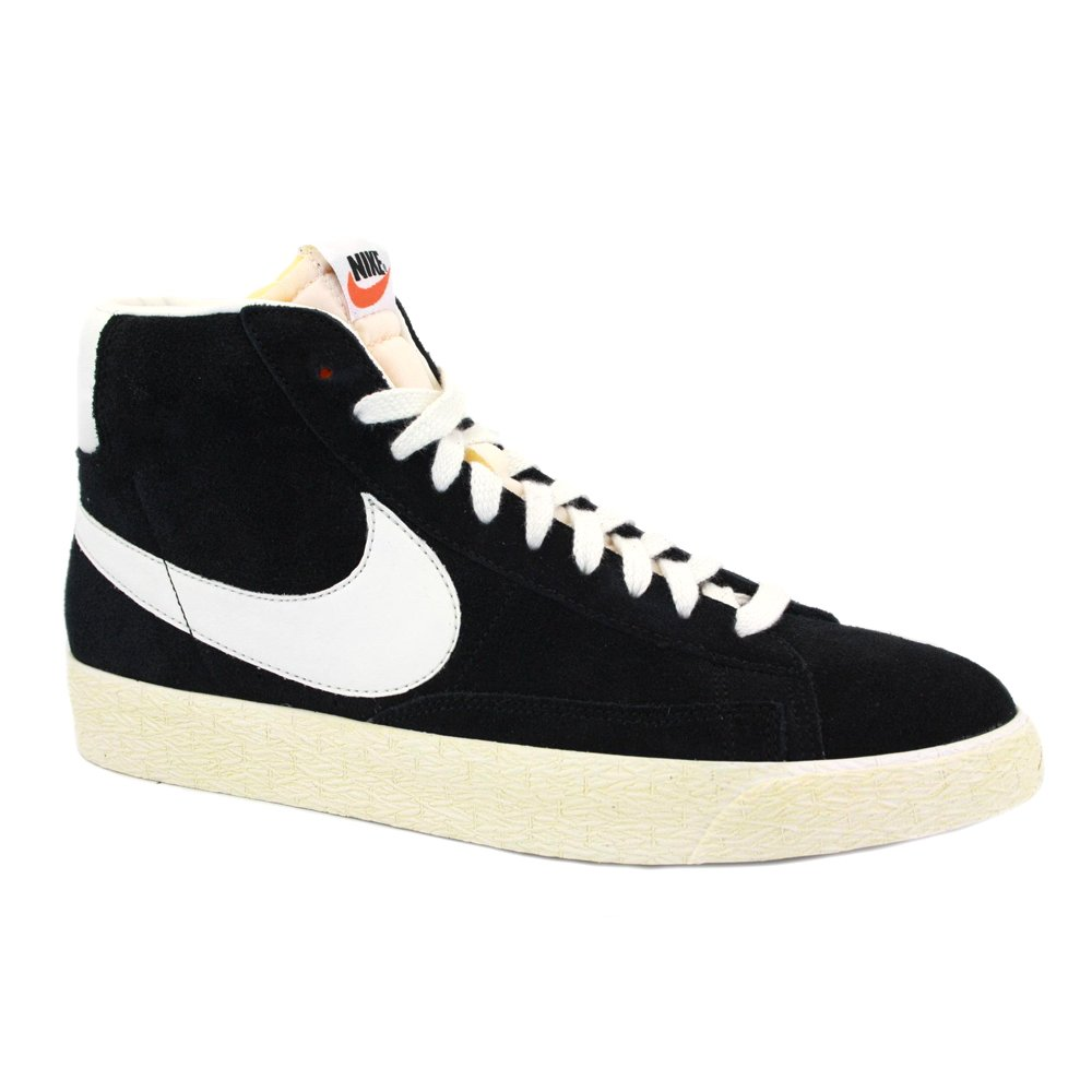 Nike Blazer Mid Suede Vintage 538282 040 Mens Laced Suede Trainers Black  Sail - 8  Amazon.co.uk  Shoes   Bags cf89fbb81a98