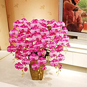 FYYDNZA Home Flower Decoration High-End Emulation Phalaenopsis Artificial Handmade Immortal Flower Suit 1