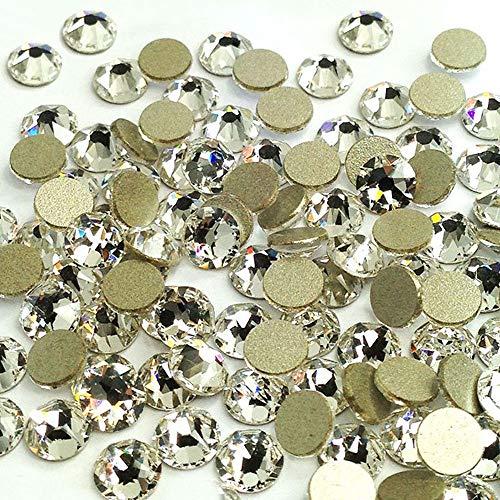 - LWCUS 144pcs Crystal Clear Swarovski-Grade No-Hotfix Non-self-Adhesive Flat Back Round Diamante Gem Rhinestones for DIY Crafts Decorating (5mm)