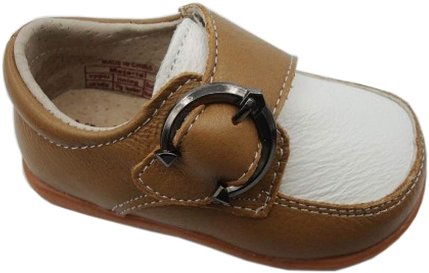 Jiazibb Baby Boys Velcro Genuine Cow Leather Buckle Toddler First Walkers Shoes Sneakers