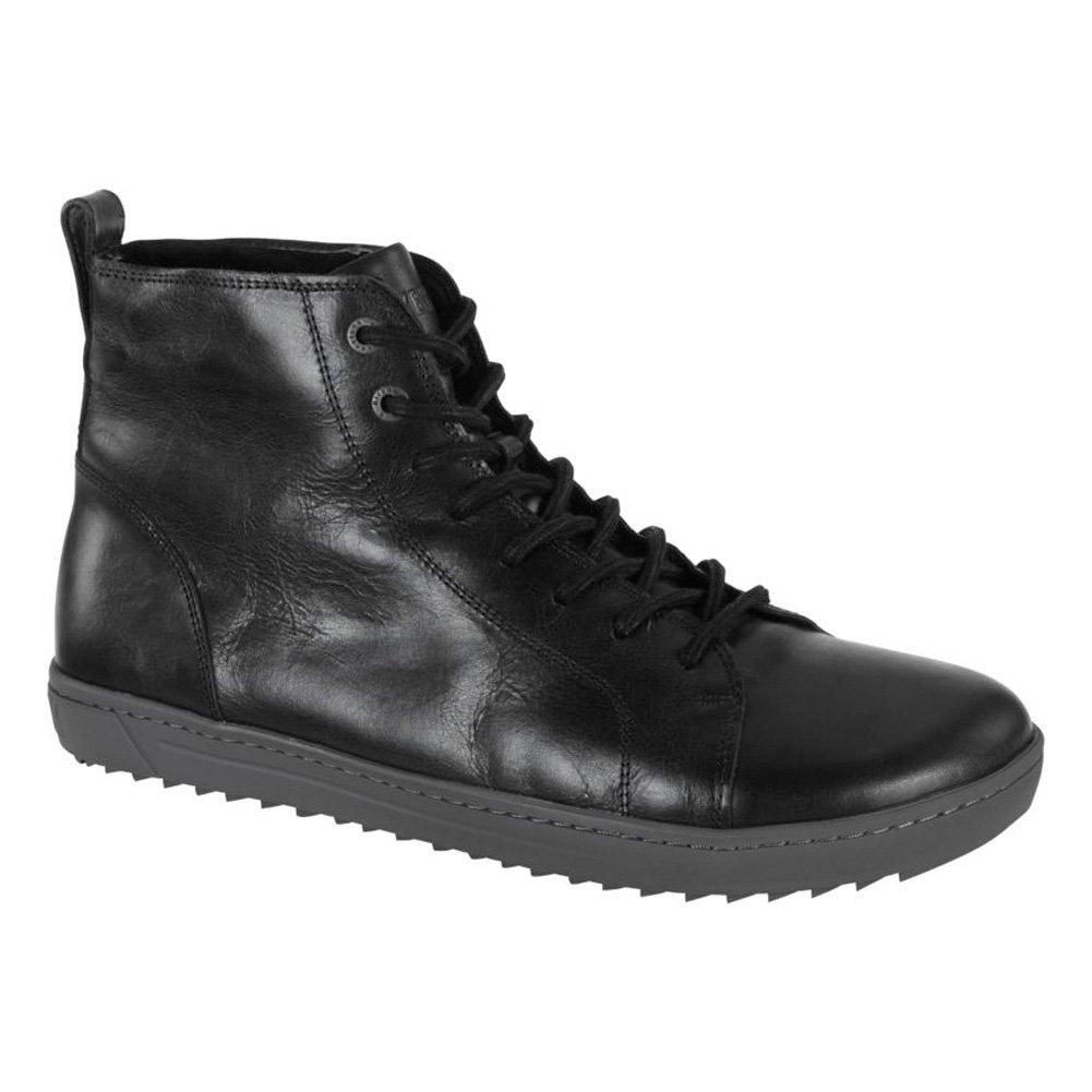 Birkenstock Men's Bartlett Black Leather Shearling Sneaker 44 M EU